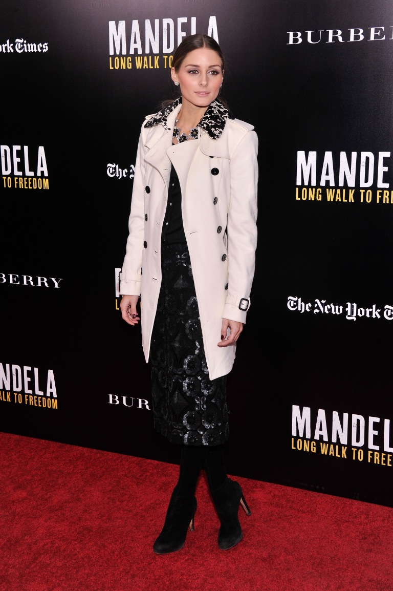 "attends a screening of ""Mandela: Long Walk to Freedom"", hosted by U2, Anna Wintour and Bob & Harvey Weinstein, with Burberry at the Ziegfeld Theater on November 25, 2013 in New York City."